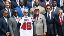 White House welcomes Tampa Bay Bucs to celebrate Super Bowl title