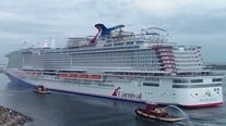 Carnival's 'Mardi Gras' sets sail from Port Canaveral