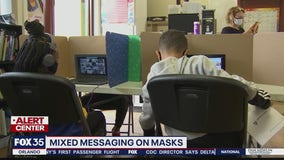 Mixed messaging on masks in schools