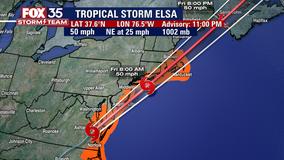 Tropical Storm Elsa pounds East Coast after killing 1 in Florida