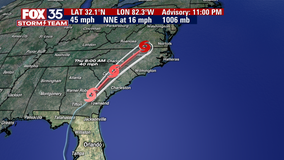 Tropical storm warnings issued for mid-Atlantic states as Elsa races north