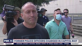 Former police officers charged in Capitol riot