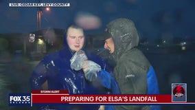 Preparing for Elsa's landfall
