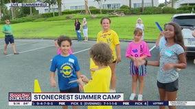 FOX 35 Storm Team Thunder Truck visits Stonecrest Summer Camp
