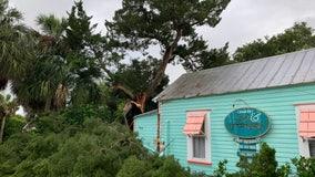 B&B damaged by falling tree in Cedar Key as Tropical Storm Elsa brushes coast