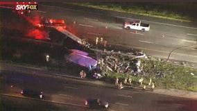 Crash involving semi truck causes major delays on I-4 in Lake Mary