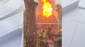 Palm Coast firefighters say lightning likely caused shed, brush fires on Monday