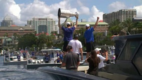 Tampa Bay Lightning championship boat parade sails through Tampa