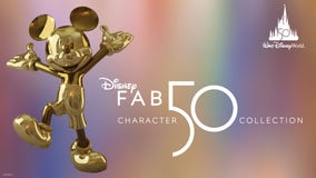 Disney World reveals first of 'Fab 50' statues for 50th anniversary