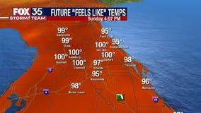 Triple-digital heat index expected as storms roll into Central Florida