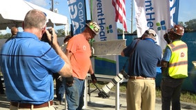 Orlando Magic, AdventHealth host 'topping ceremony' for new athletic training center