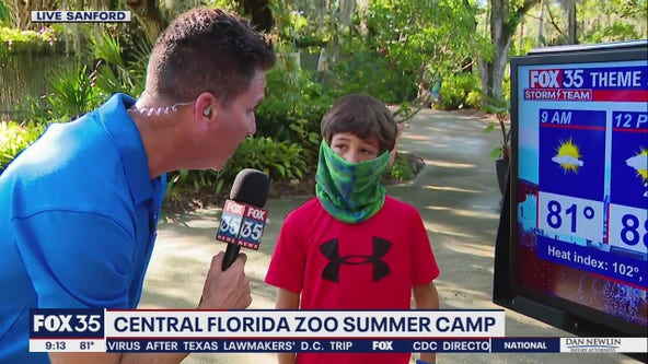 FOX 35 Storm Team Thunder Truck stops at the Central Florida Zoo summer camp