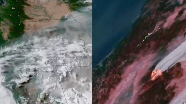 Dixie fire: Satellite video shows blaze burning from outer space