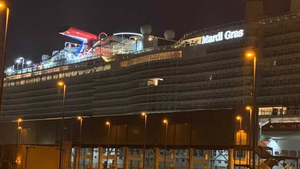 Carnival's Mardi Gras arrives at Port Canaveral ahead of Saturday departure
