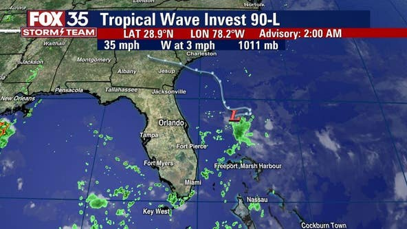 Monday declared FOX 35 Storm Alert Day; system has 50% chance to develop