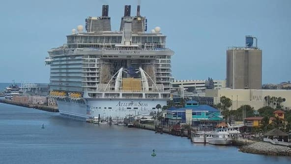 'Allure of the Seas' departs from Port Canaveral on test cruise