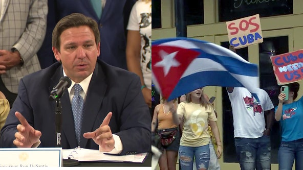 DeSantis calls on Florida companies to provide internet to Cuba after government shuts it down