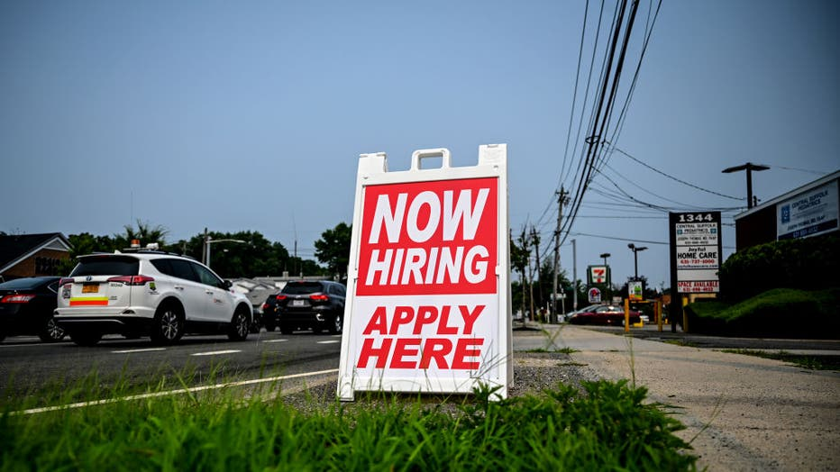 Help Wanted sign on road on Long Island in 2021