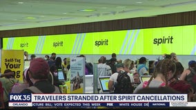 Travelers stranded after Spirit Airline cancellations