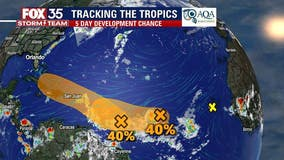 Hurricane forecasters track 2 systems in tropical Atlantic