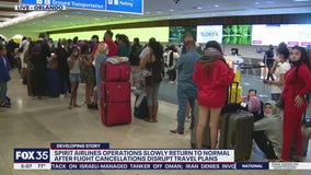 Stranded air travelers in tears over more cancellations at OIA