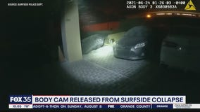 Body camera video released from Surfside condo collapse