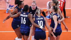 Tokyo Olympics: US advances to women's volleyball semifinals