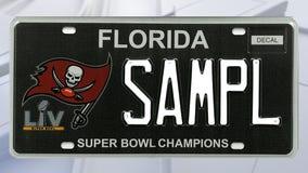 New Bucs license plate marks Super Bowl win