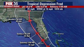 Fred weakens into a tropical depression as it crosses Hispaniola