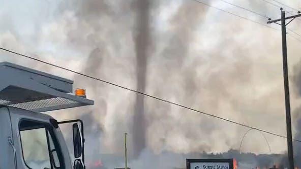 Alabama recycling plant fire: Video captures 'smokenado'