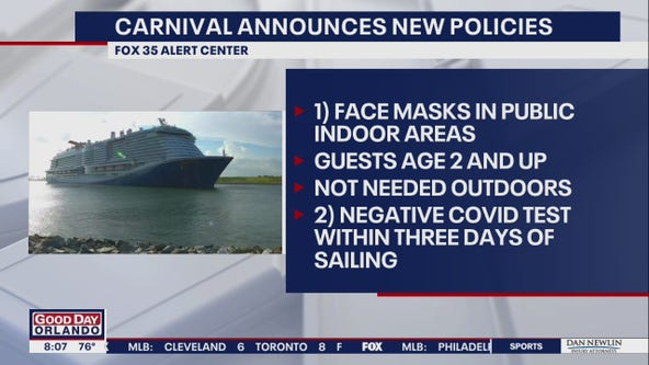 Carnival to require face masks in indoor public areas