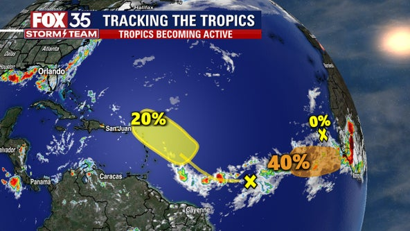NHC: Tropics show signs of life with 2 systems in the Atlantic