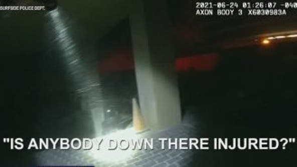 Body cam video shows officers responding to Florida condo collapse