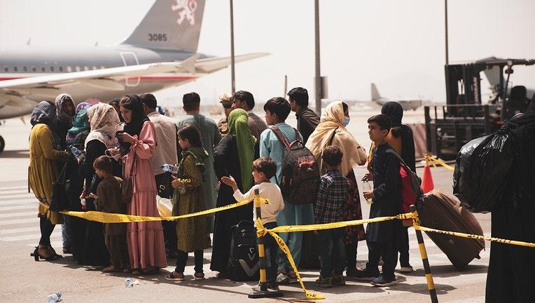 Evacuation at Hamid Karzai International Airport