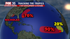 Forecasters monitoring 2 disturbances with high chances of development