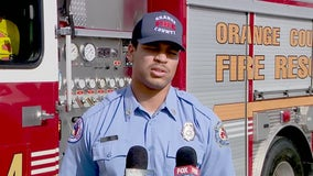 After just one day on the job, firefighter puts training into action