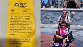 Mom visiting Disney World with disabled son gets nasty note for taking 2 parking spots