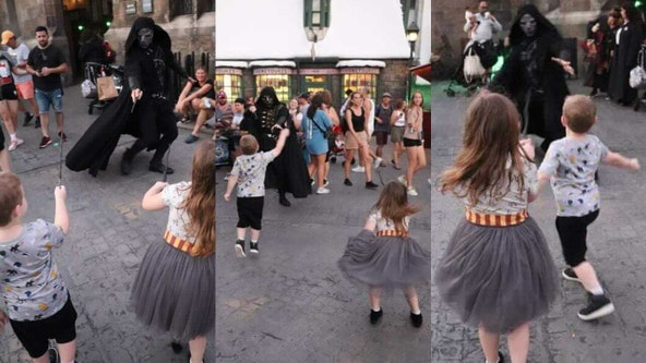 VIDEO: Kids face off with 'Death Eaters' at Universal Orlando