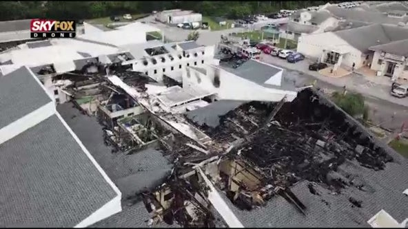 WATCH: Drone flies over Pet Alliance of Greater Orlando after fire