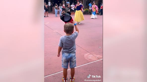 Video of Florida 4-year-old tipping his hat to Disney princesses goes viral