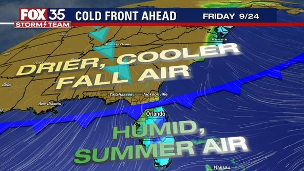 Cold front incoming, but first? Summer's last showers and storms