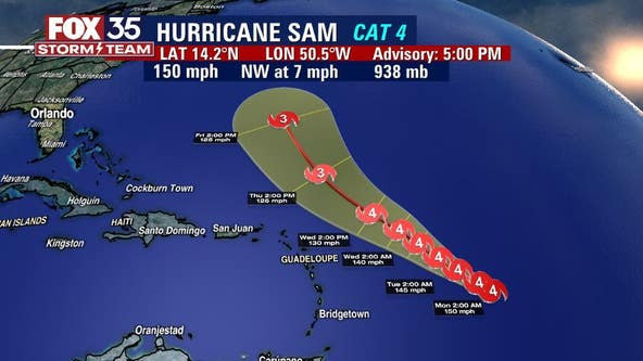 Sam remains a major hurricane: How a cold front could impact its path