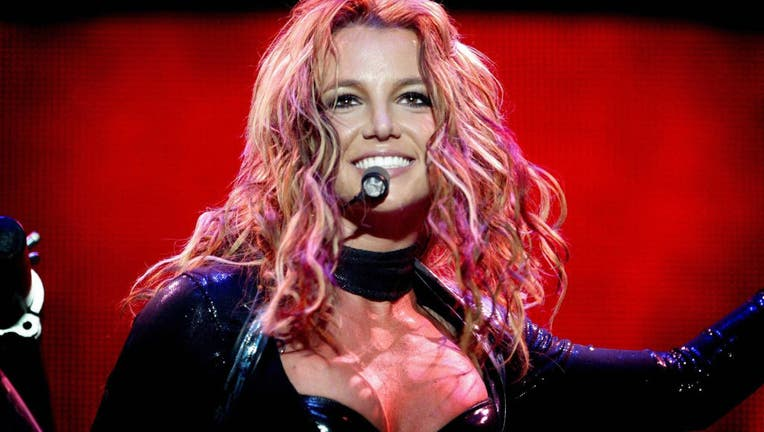 US singer Britney Spears performs in Rot