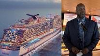 Shaq helps christen Carnival's Mardi Gras ship at Port Canaveral