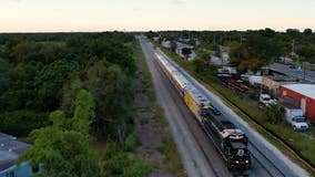 First of five Brightline train sets arrived in Florida on Thursday