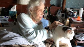 101-year-old woman adopts 19-year-old cat from animal shelter