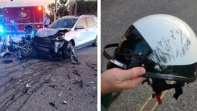 Sheriff: Volusia motorcycle deputy 'in a lot of pain' but alive after head-on crash