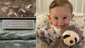 Cincinnati Zoo names sloth habitat after late 1-year-old boy