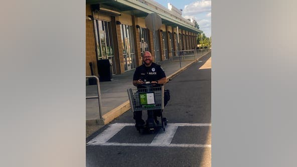 Central Florida police officer goes the 'extra mile' to bring back Publix scooter