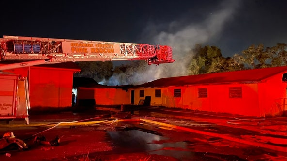 Crews clean up after fire tears through Orange County church